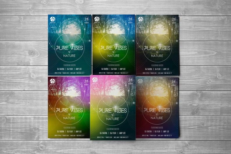 Rave party poster PSD  Trance party flyer with sacred geometry background   Digital Sci Fi design  Futuristic background Photoshop poster