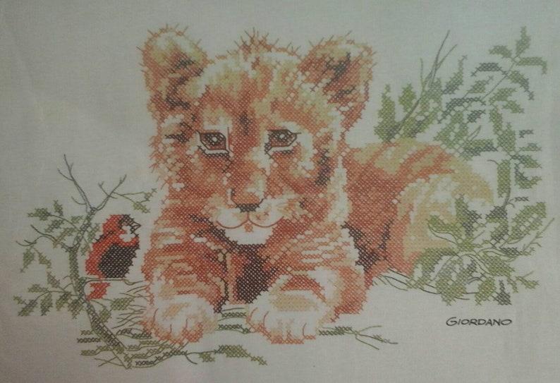 Lion Cub Cross Stitch Picture Paragon Giordano Printed