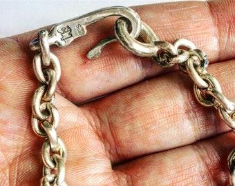 a8322a190340 Rebajas collar de plata de ley para hombre- collar biker