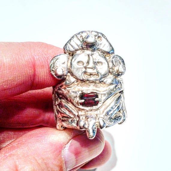 Silber Azteken Ring Maya-Ring Sterling Silber Herrenring   Etsy