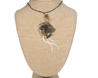 Brazil Real Feather Necklace: Brazil Brasil Boho Necklace Jewelry Feather Necklace Woodlands Hippie Bohemian Acai Bead