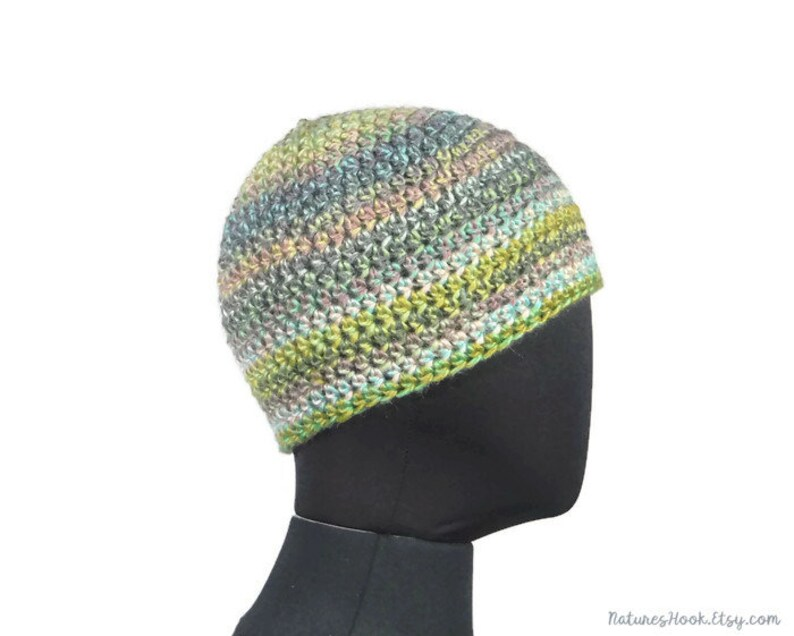 f26618d5eea Green Gray Blue Black Simple Crochet Beanie  Unisex Beanie Ski