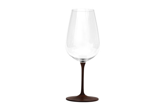 CATHERINE,elegant,Weinglas,Walnussholz,mundgeblasenes Kristallglas