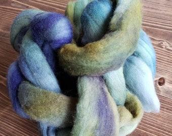 Ecosoft felting wool fiber roving 1 full ounce Amethyst