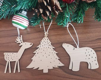 Christmas Ornaments, Custom Christmas Ornament, Wood Ornaments, Personalized Ornaments, Christmas decoration, Christmas gift