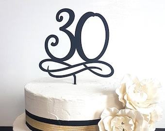Number Cake Topper, Age Cake topper, Number Cake Topper, Birthday Cake Topper, Anniversary Cake Topper, 30th Birthday Cake Topper