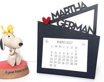 Calendar, Anniversary Calendar, Wood calendar, Calendar Photoframe, Anniversary Gift, Photo Calendar, Gifts for him, Gifts for her