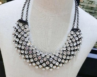 Crystal Statement Multi Layer Necklace