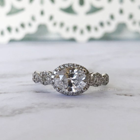 Accent Invisible Sittings Promise Ring Soild Sterling Silver Round Russian CZ