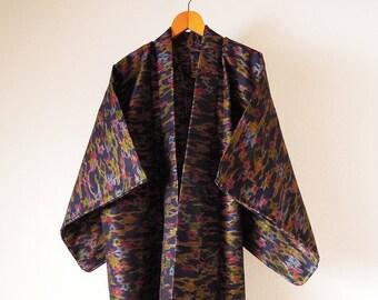Vintage Japanese Kimono / Wool Kimono