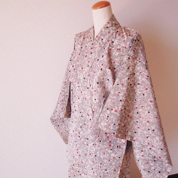 1950's Antique Japanese Kimono/Silk Robe/Japanese