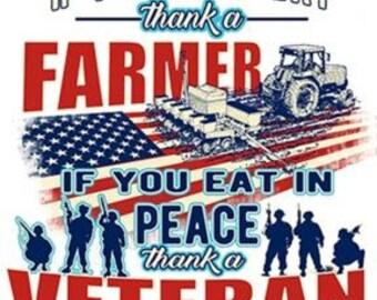 Farmer T-Shirt, Veteran T-Shirt, Gift for Farmer, Gift for Veteran