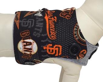 San Francisco Giants MLB Baseball Banner & Pennant Logo Interchangeable Reversible Pet Dog Cover for PAWZLY Harnesses