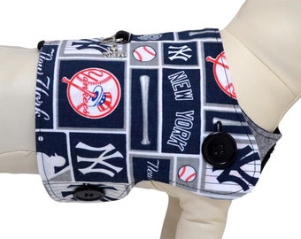 American MLB New York Yankees Major League Baseball Team Logo NY Yanks Fans Interchangeable Reversible Pet Dog Cover for PAWZLY Harnesses
