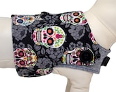Jolly De Los Roger (Day of the Dead) Sugar Skulls and Crossbones Interchangeable Reversible Pet Dog Cover for PAWZLY Harnesses