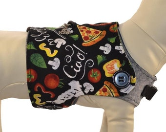 Italian Kitchen Dog Harness Vest * Italy Cooking & Farm Fresh Ingredients * Interchangeable Reversible Pet Dog Cover for PAWZLY Harnesses