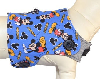 Disney's Colorful & Playful Mickey Mouse ºoº Disneyland Vacation Mouse Ears Interchangeable Reversible Pet Dog Cover for PAWZLY Harnesses