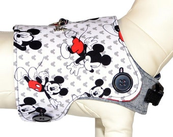Disney's Mickey Mouse Dog Harness Vest * Mickey and Friends, Disneyland Disney World Vacation * PAWZLY Interchangeable Reversible Pet Covers