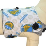 NBA Golden State Warriors Basketball Association Variant Jersey Interchangeable Reversible Pet Dog Cover for PAWZLY Harnesses
