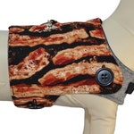 BACON! ...and also some Burgers, Hot Dogs, and French Fries Interchangeable Reversible Pet Dog Cover (and BACON)