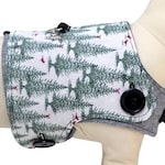Holiday Pines and Winter Snowflakes Reversible Dog Vest
