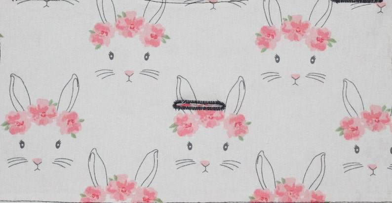 Little Bunny Foo Foo Rabbit w Flower Crown Interchangeable Reversible Pet Dog Cover for PAWZLY Harnesses