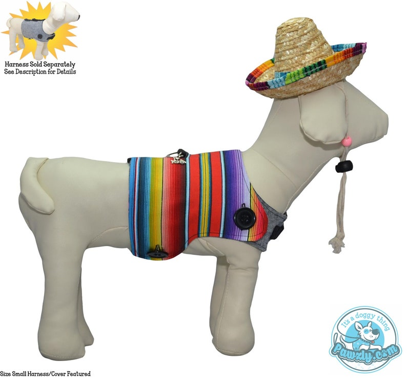 Mexican Poncho Serape Colorful Dog Bones for Señor Señora & image 0