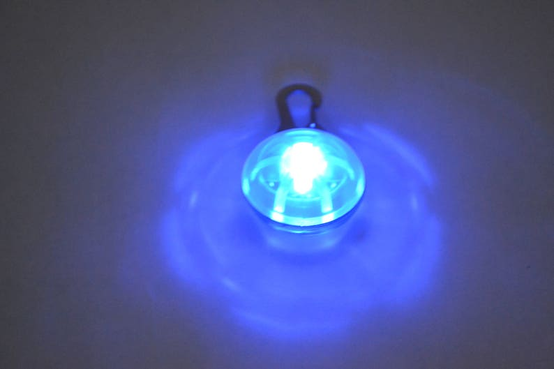 Blinking Strobe Alert Flashing Safety Lights for Dogs Collars image 0