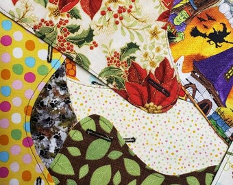 Mystery Pack of 5 Interchangeable & Reversible Pet Dog Covers for PAWZLY Harnesses * Boy and Girl Styles * Holiday, Seasons, Floral Prints