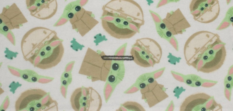 Grogu from the Mandolorian w Frogs Interchangeable Reversible Pet Dog Cover for PAWZLY Harnesses Star Wars Baby Yoda Dog Harness Vest