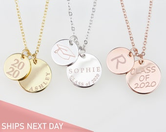 Blerameng 2020 Gaduation Gifts for Her Congrats Grad Jewelry for Graduates High School Graduation Necklace