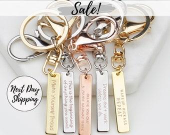 Personalized Keychain Engraved Keychain Custom Keychain for Dad Keychain  for Women Empowerment Keychain for Boyfriend Jewelry Gifts FK03 d54418fa8