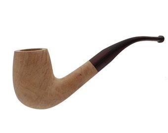 Unfinished Briar Bent Billiard Smoking Pipe