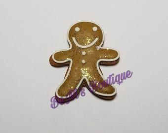RTS - Ginger Bread Man - Needle Minder - Rare Earth Magnet - Christmas - Glitter