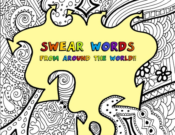 Swear Word Coloring Page Coloring for Adults Anxiety | Etsy | 439x570