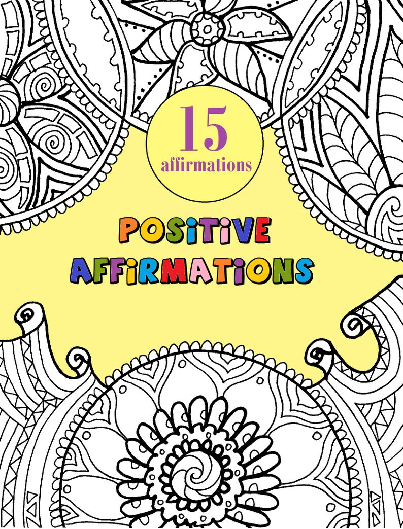 Adult Coloring Book PDF. Printable INSTANT DOWNLOAD 15 | Etsy