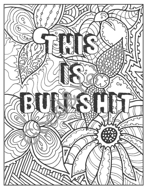 Instant Download Shit Coloring Page Naughty Adult Coloring | Etsy | 728x570
