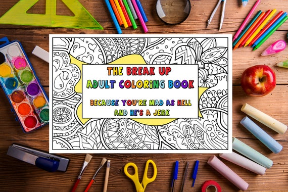 Adult Coloring Book Printable INSTANT DOWNLOAD Pdf. The Etsy