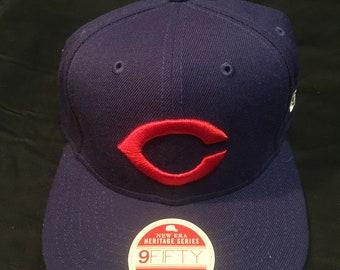 faef8e4ed Vintage Chicago Cubs Snapback Hat MLB Baseball New Era