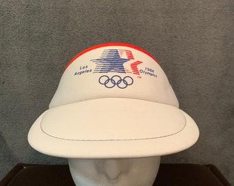 a821c10a60f Vintage 1984 Los Angeles Olympics Visor