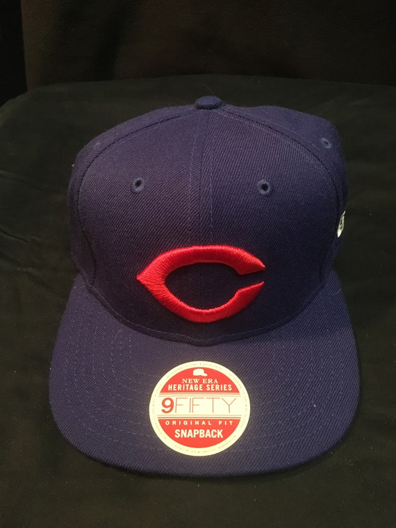 8a647d237ec Vintage Chicago Cubs Snapback Hat MLB Baseball New Era