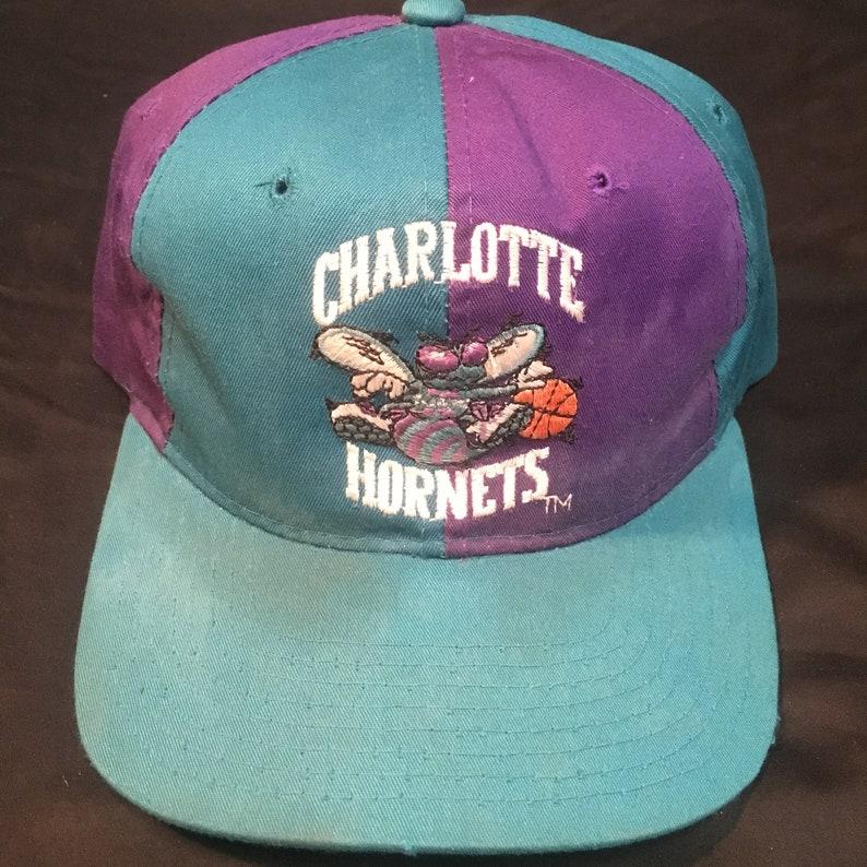 8f3935486ae61 Charlotte Hornets Vintage Snapback Starter NBA Basketball Hat