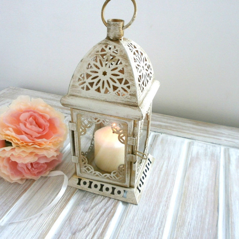 Vintage Moroccan Lantern Shabby chic Lantern Rustic Wedding Distressed