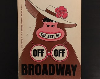 The Best of Off Off Broadway - Michael Smith • vintage paperback book •  theatre plays drama • Sam Shepard • 1969 rare collectible
