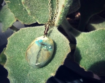 Oval Labradorite Necklace