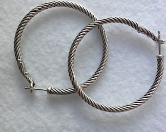 David Yurman large hoop earrings