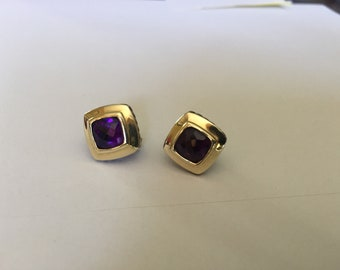 David Yurman 7 mm Amethyst earrings