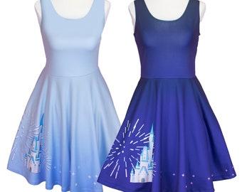 Magic Kingdom Inspired Dress / Disney Dress / Cinderella's Castle Dress / Wishes / Disney Fireworks / Disney World Inspired Dress