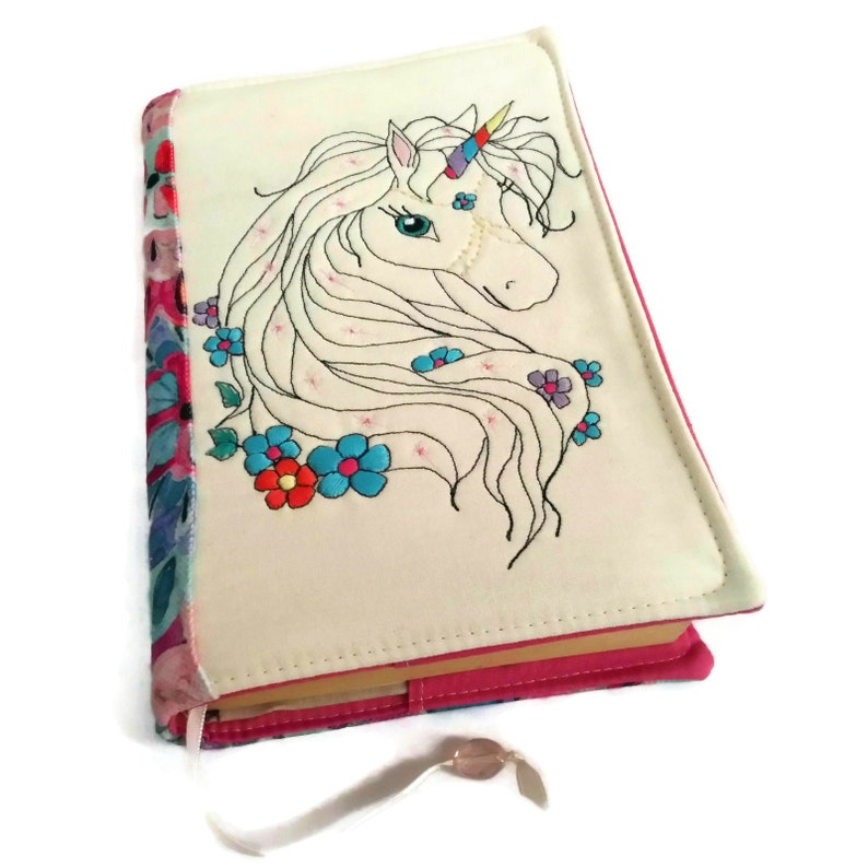 Unicorn Book Cover Magical Creature Design Colorful Diary image 0
