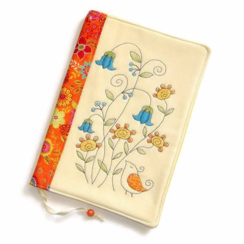 Summer Fabric Book Cover Reusable Notebook Case Travel image 0